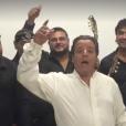 Chico & the Gypsies dans une vidéo Facebook à l'occasion de leur concert aux Arènes de Fréjus le 16 août 2016. Kassaka, Joseph, Canut Reyes, Babato, Chico Bouchikhi, Mounin, Kema, Rey et Tane.