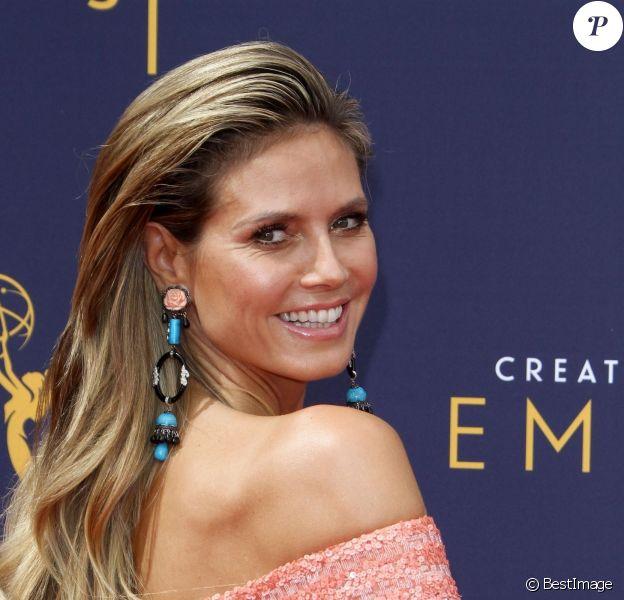 Heidi Klum aux Primetime Creative Arts Emmy Awards au Microsoft Theater à Los Angeles, le 9 septembre 2018.