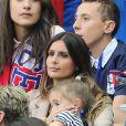 Marine Lloris au match d'ouverture de l'Euro 2016, France-Roumanie au Stade de France, le 10 juin 2016. © Cyril Moreau/Bestimage10/06/2016 - Saint-Denis