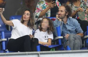 Elodie Bouchez et Thomas Bangalter (Daft Punk) au Stade avec leurs fils