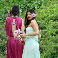 Kendall et Kylie Jenner au mariage de leur frère Brandon à Hawaï le 31 mai 2012