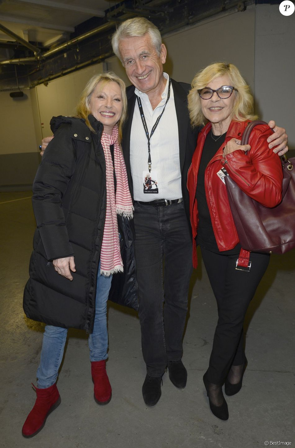 Semi-exclusif - Véronique Sanson, Gilbert Coullier et Nicoletta - Jour 4 - People en backstage du concert de Michel Polnareff à l'AccorHotels Arena de Paris le 11 mai 2016. © Coadic Guirec/Bestimage
