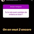 Mélanie Da Cruz (Secret Story 9) fait des révélations sur son fils Swan et sur ses projets avec son compagnon, le footballeur Anthony Martial sur Instagram le 18 septembre 2018.
