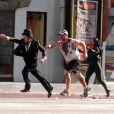 """Tournage de """"Zombieland"""" sur Hollywood Boulevard"""