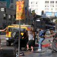 """Woody Harrelson sur le tournage de """"Zombieland"""" sur Hollywood Boulevard"""