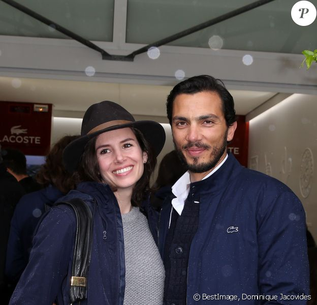 Louise Monot et son compagnon Samir Boitard - People au village des Internationaux de Tennis de Roland Garros le 31 mai 2016. © Dominique Jacovides / Bestimage C