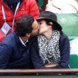 Samir Boitard, sa compagne Louise Monot - People dans les tribunes de Roland Garros le 31 mai 2016. © Dominique Jacovides / Bestimage