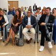 Exclusif - Natacha Nikolajevic Dassault, Emmanuelle Boidron, la comédienne et ambassadrice de la Fondation, Brahim Asloum, champion olympique de boxe et parrain de la Fondation, et Alain Bernard, le champion olympique de natation et ambassadeur de la Fondation, durant la cérémonie de remise du prix Claude Pompidou 2018. Cette année c'est le professeur Guylène Page du CHU de Poitiers qui a reçu le chèque de 100000 euros pour le 9ème prix Claude Pompidou pour la recherche sur la maladie d'Alzheimer à la Fondation Claude Pompidou à Nice, France, le 14 septembre 2018. © Bruno Bebert-LMS/Bestimage