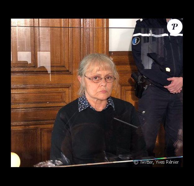 Muriel Robin est Jacqueline Sauvage sur le tournage du téléfilm réalisé par Yves Rénier. (mai 2018)