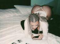 Kim Kardashian : Fesses à l'air en string, la bombe assure sa promo !