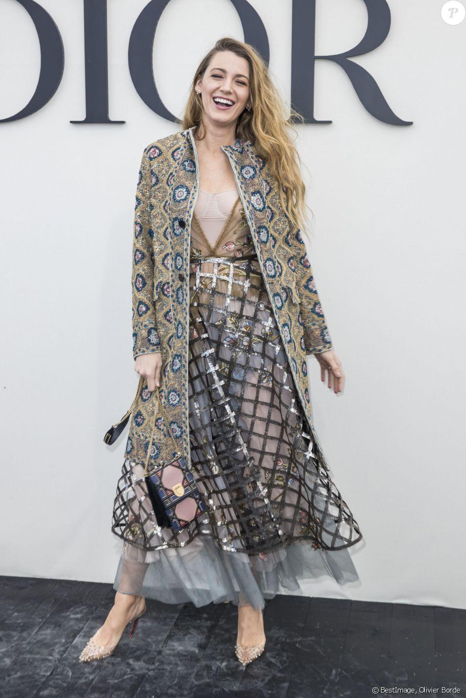 """Blake Lively - Défilé de mode """"Christian Dior"""" prêt-à-porter printemps-été 2019 à Paris. Le 24 septembre 2018 © Olivier Borde / Bestimage"""