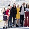 "Scarlett Lindsey, Claire Denis, Mia Goth, Agata Buzek, Robert Pattinson, Juliette Binoche - Photocall du film ""High Life"" lors du 66ème Festival International du Film de San Sebastian. Le 27 septembre 2018"