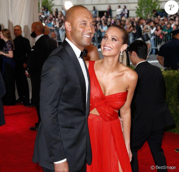 Derek Jeter et Hannah Davis au Met Ball le 4 mai 2015 à New York. Le couple a accueilli le 17 août 2017 son premier enfant, une fille.