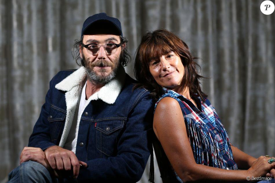 """Philippe Rebbot et Romane Bohringer - Avant-première du film """"L'amour flou"""" à Lille le 18 septembre 2018."""