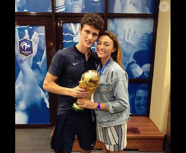 Rachel Legrain-Trapani et Benjamin Pavard après la victoire de l'équipe de France à la Coupe du monde 2018 - Instagram - 15 juillet 2018