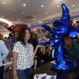 Exclusif - Laurence Roustandjee et Aïda Touihri - Premier anniversaire de la collaboration entre le sculpteur Richard Orlinski et Disneyland Paris, au Disney Store, à Paris, le 4 octobre 2018. © Rachid Bellak/Bestimage