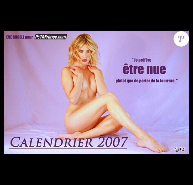 Eve Angeli pose nue pour la PeTA