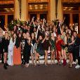 """Exclusif - Pauline Ducruet sur les marches du Casino de Monte Carlo entourée par Caroline Receveur et Lolita Abraham ainsi que les influenceurs invités dont JustSul, Christina Pitanguy, Said Ahmad, Rapha Mendonca, Angelica Blick... à J - 1 de la 1ère édition à Monaco des """"Influencer Awards Monaco"""" avec comme ambassadrice et présidente du jury, P. Ducruet, le 6 octobre 2018. © Bruno Bebert / PRM / Bestimage / Crystal"""