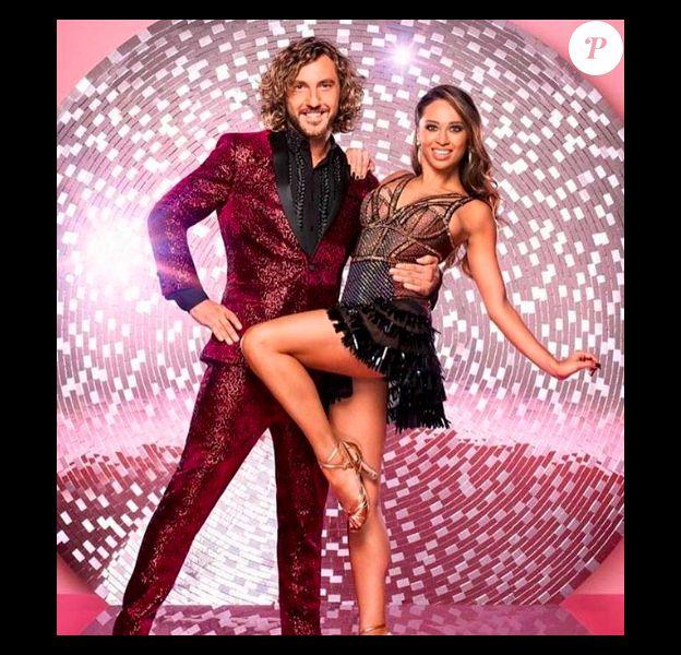 "Sean Walsh et sa danseuse Katya Jones dans ""Strictly Come Dancing"" au Royaume-Uni."