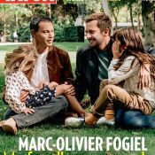 """Marc-Olivier Fogiel en couverture de """"Paris Match"""" avec son mari et leurs filles"""