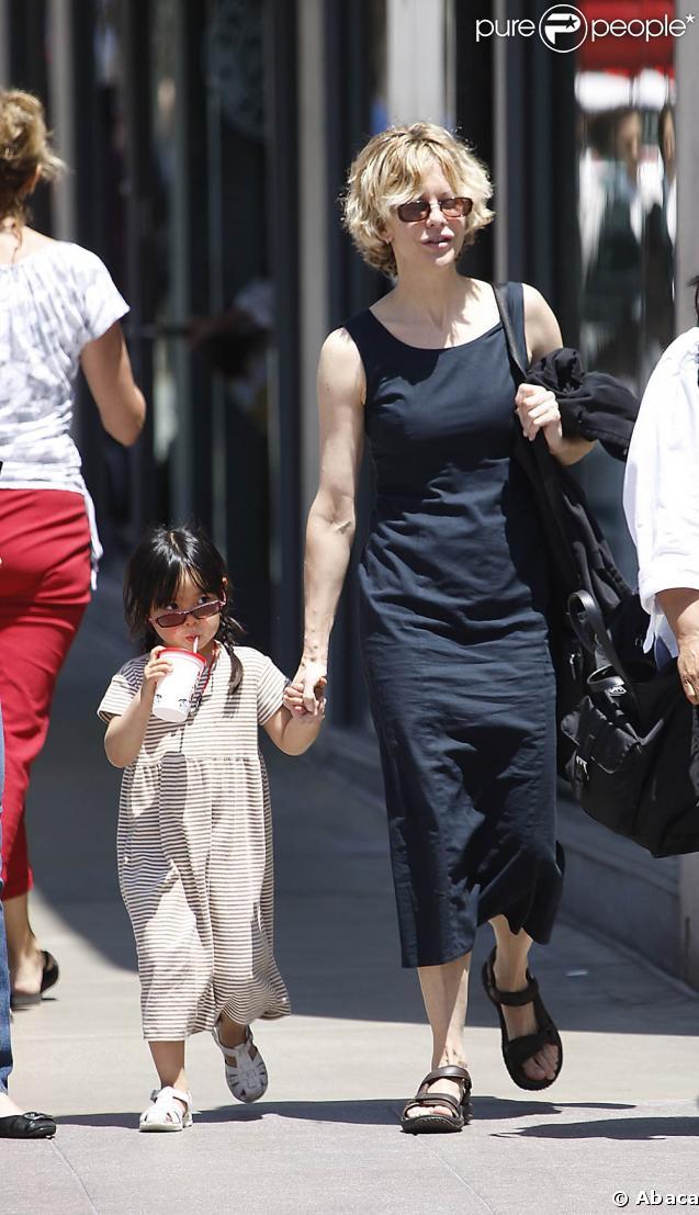 Meg Ryan et sa fille adoptive Daisy âgée de 4 ans