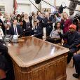 Kanye West rencontre Donald Trump au Bureau Oval, à la Maison Blanche. Washington, D.C., le 11 octobre 2018.
