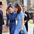 Cressida Bonas - Les invités arrivent à la chapelle St. George pour le mariage de la princesse Eugenie d'York et Jack Brooksbank au château de Windsor, Royaume Uni, le 12 octobre 2018.
