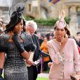 Naomi Campbell - Les invités arrivent à la chapelle St. George pour le mariage de la princesse Eugenie d'York et Jack Brooksbank au château de Windsor, Royaume Uni, le 12 octobre 2018.