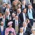 Robbie Williams - Les invités arrivent à la chapelle St. George pour le mariage de la princesse Eugenie d'York et Jack Brooksbank au château de Windsor, Royaume Uni, le 12 octobre 2018.