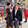 Sofia Wellesley et James Blunt - Les invités arrivent à la chapelle St. George pour le mariage de la princesse Eugenie d'York et Jack Brooksbank au château de Windsor, Royaume Uni, le 12 octobre 2018.