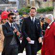 Jamie Redknapp - Les invités arrivent à la chapelle St. George pour le mariage de la princesse Eugenie d'York et Jack Brooksbank au château de Windsor, Royaume Uni, le 12 octobre 2018.