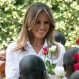 """Melania Trump visite le foyer pour enfants """"The Nest : Children's Home"""" à Nairobi, à l'occasion de son voyage au Kenya. Le 5 octobre 2018"""