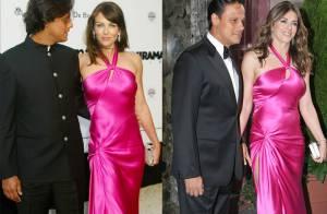 Quand Elizabeth Hurley ressort la même robe six ans plus tard... euh... ça craque aux coutures !