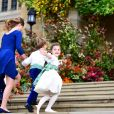 Lady Louise Mountbatten-Windsor - Les invités arrivent à la chapelle St. George pour le mariage de la princesse Eugenie d'York et Jack Brooksbank au château de Windsor, Royaume Uni, le 12 octobre 2018.