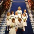 Le prince George de Cambridge et la princesse Charlotte de Cambridge - Cérémonie de mariage de la princesse Eugenie d'York et Jack Brooksbank en la chapelle Saint-George au château de Windsor, Royaume Uni le 12 octobre 2018.