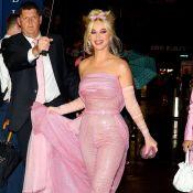 Katy Perry : Craquante en rose pour mener le combat...