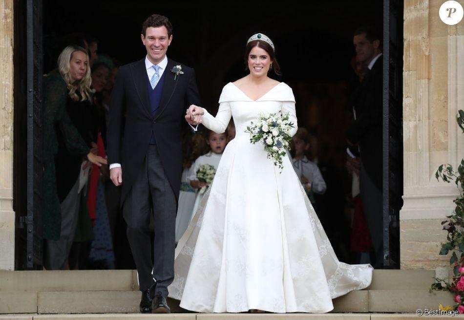 La princesse Eugenie d\u0027York et son mari Jack Brooksbank , Sorties après la  cérémonie
