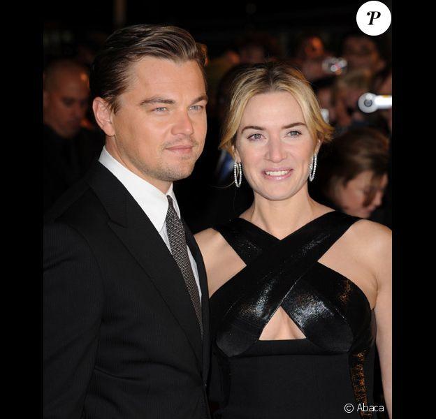 Leonrado DiCaprio et Kate Winslet en janvier 2009