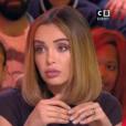 """Nabilla et Cyril Hanouna sur le plateau de """"Touche pas à mon poste"""" le 25 octobre 2018 sur C8."""