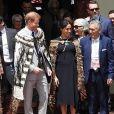 Le prince Harry, duc de Sussex, Meghan Markle, duchesse de Sussex (enceinte) lors d'une visite du site Te Papaiouru Marae à Rotorua, Nouvelle Zélande le 31 octobre 2018.
