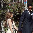 Scottie Pippenet sa femme Larsa au mariage de Michael Jordan et Yvette Prieto à Palm Beach, le 27 avril 2013.