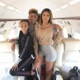 Larsa Pippen avec ses enfants Justin et Sophia, photo Instagram du 11 août 2018.