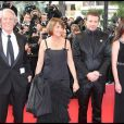 Jean Rochefort, Elsa Zylberstein, Christine Albanel et Samuel Le Bihan lors de l'ouverture de la cérémonie d'ouverture du 62e Festival de Cannes le 13 mai 2009