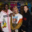 """Karidja Touré, Tigarah et Joséphine Japy - Soirée de lancement de la collection """"H&M x Moschino"""" au """"Dernier Etage"""" à Paris, le 6 novembre 2018. © Pierre Perusseau / Bestimage"""