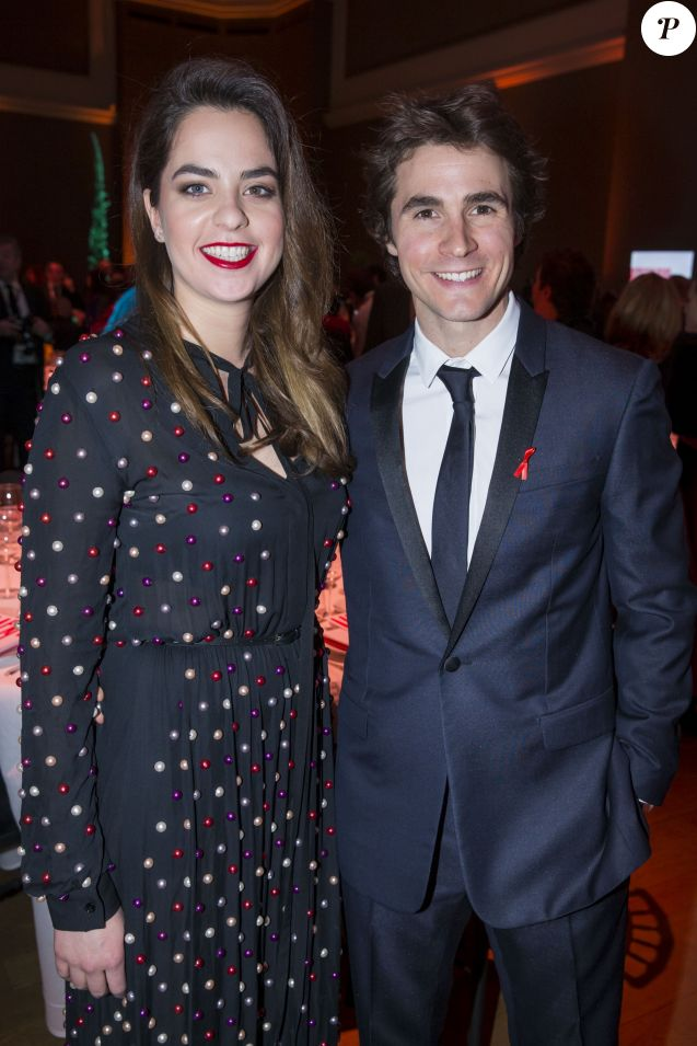 "Anouchka Delon et son compagnon Julien Dereims - 15e édition du ""Dîner de la mode du Sidaction"" au Grand Palais à Paris, le 26 janvier 2017. © Olivier Borde/Bestimage 1"