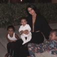 Kim Kardashian avec ses enfants North, Chicago et Saint. Novembre 2018.