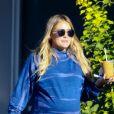 Exclusif - Hilary Duff (enceinte) sort prendre un petit déjeuner à Los Angeles le 18 octobre 2018.