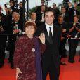 Agnes Varda et son fils Mathieu Demy montent les marches du Palais des festivals