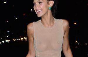 Bella Hadid : Sexy en robe super transparente après le défilé Victoria's Secret