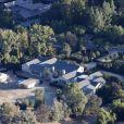 Photos aériennes de la nouvelle maison de Kim Kardashian et Kanye West dans le quartier de Hidden Hills à Calabasas en Californie. La maison que le couple avait acheté pour la modique somme de 20 millions de dollars en 2014 est encore en rénovation. Le 11 novembre 2017.
